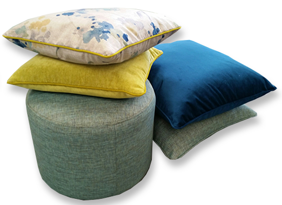 Everest Design custom cushions and ottomans