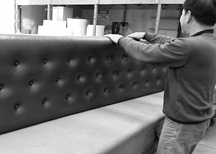 The Everest Design furniture makers in action