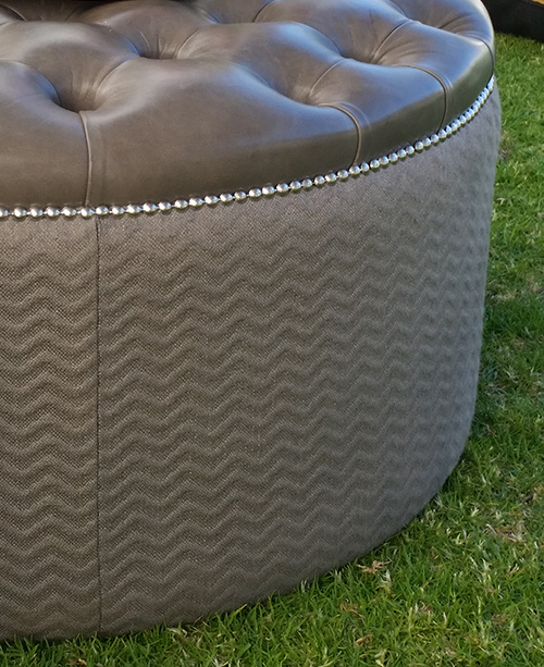 Custom upholstered ottoman and soft furnishings Perth