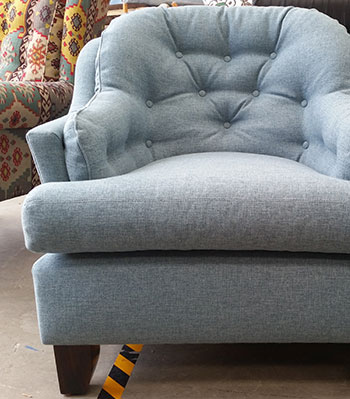 Restored Buttoned Tub Chair