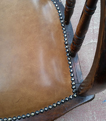 Captain's chair upholstery restoration Perth